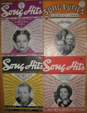 Group of 4 Nice Song Hits Lyric Magazines , Frances Langford, Bing 1930's-40's