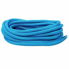 "3/8"" 15FT Double Braid Nylon Dockline Mooring Rope Double Braid Dock Line-Blue"