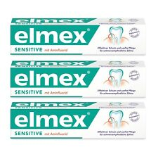Elmex Sensitive Toothpaste Over Sensitive Teeth Gum Long Lasting Relief 3x 75ml
