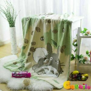 My Neighbor Totoro Oral Fleece Blanket Double Bath Towel Nap Blanket XMAS GIFT