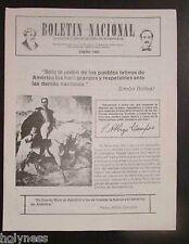 BOLETIN NACIONAL / PARTIDO NACIONALISTA DE PUERTO RICO / NEWSLETTER / JAN 1983