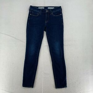 Pilcro And The Letterpress By Anthropologie Womens Mid Rise Skinny Jeans Blue 27