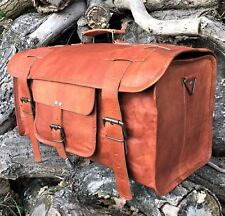 "23"" Vintage Leather Duffle HoldAll Bag Overnight Weekend Travel Luggage Handbag"