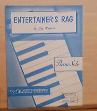 Entertainer's Rag - 1912 sheet music, later edition  - piano solo by Jay Roberts