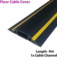 9m x 83mm Heavy Duty Rubber Floor Cable Cover Protector-Conduit Tunnel Sleeve