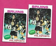 2 X 1975-76 TOPPS # 200 BRUINS PHIL ESPOSITO NRMT-MT  CARD   (INV# C3556)