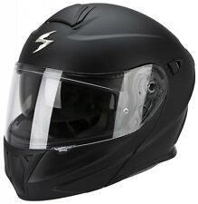 CASCO MOTO MODULARE APRIBILE SCORPION EXO 920 SOLID MATT BLACK NERO OPACO TG XL
