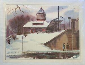 """RANULPH BYE Print """"Sedgwick Railroad Station"""", Philadelphia, Pa."""
