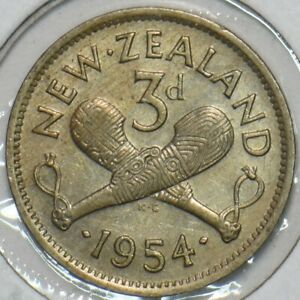 New Zealand 1954 3 Pence 152376 combine shipping
