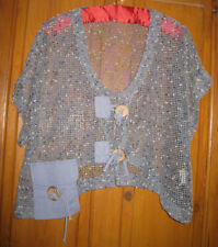 Unusual Florence at Monsoon Short Sleeve Petrol Blue Cardigan fits one size