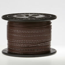 """16 AWG Gauge Solid Hook Up Wire Brown 500 ft 0.0508"""" UL1007 300 Volts"""