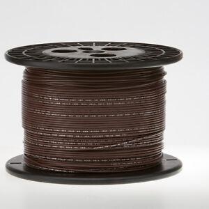"14 AWG Gauge Stranded Hook Up Wire Brown 500 ft 0.0641"" UL1015 600 Volts"