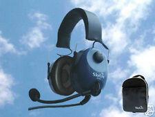 SkyLite Foldable SL-800 Pilot Aviation GA Headset + Free Bag, Dual Plug