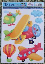 Aeroplane Airplane Plane Wall Stickers Childrens Kids Girls Boys Baby Bedroom