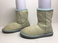 WOMENS UGG AUSTRALIA WINTER SUEDE MINT BOOTS SIZE 7