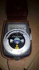 Gossen Lunasix ASA Light Meter incident +case&strap Belichtungsmesser