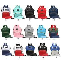 2pcs/set Larger Mummy Baby Diaper Bag Backpack Rucksack Travel Stroller Handbag