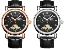GAMAGES OF LONDON - Moon Phase Automatic - Steel or Rose