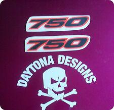 GSXR VFR 750 BLACK & DAYGLOW RED CUSTOM SEAT UNIT FAIRING DECALS STICKERS