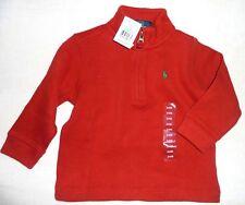 Ralph Lauren Kinder Baby Sweatshirt Pullover Junge rot Boy Sweater Shirt  zip 80