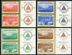 Asda 16th Annuel Tampon Show Nyc Etiquettes VF MNH Imperfection Filet. 25.00