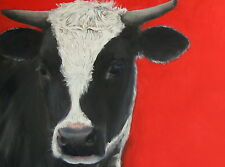 TRUJILLO Art Commissioned Pet Portraits ORIGINAL OIL dogs cats cows goat chicken