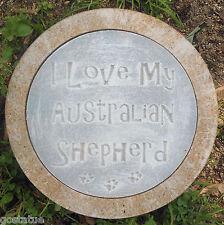 Australian shepherd dog stepping stone mold  concrete plaster mould