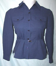 Kathie Lee Solid Blue Polyester Long Sleeve Belted Shirt Size 6 Vintage 80s