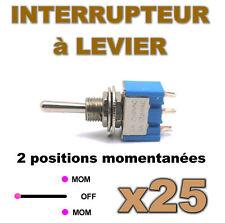938/25# Interrupteur à levier MOM-OFF-MOM 25pcs