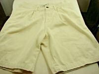 Z Cavaricci Girls Stretch Beige Chino Shorts Size 16 ( 28in waist 7.5 in inseam