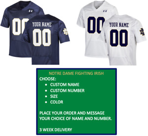 Custom Notre Dame Jersey - Choose Name, Number, Color and Size