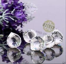 Hot 5PC 30MM Clear Crystal Chandelier Ball Prism Rainbow Pendant Wedding Decor