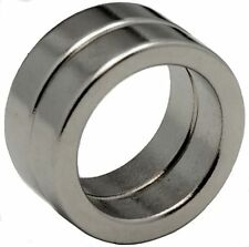 2 Neodymium Magnets 1 x 3/4 x 1/4 inch Ring N48