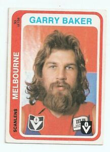 1979 Scanlen football card Garry Baker Melbourne card no 93 Near Excellent