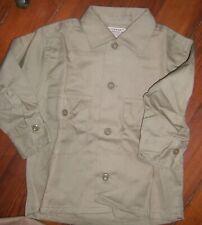 Khaki Shirt for Boys  -1950'S   Vintage  Small  Coneset brand new never worn