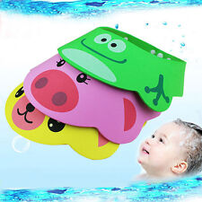 Cute Cartoon Baby Kid Bath Shower Shampoo Cap Hat Wash Adjustable Waterproof Cap