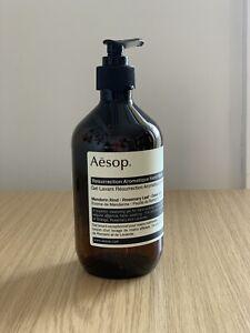 **EMPTY** Aesop Resurrection Aromatique Hand Wash 500ml Pump Bottle.