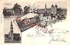 Gruss aus Deutsch-Lissa / Posen Litho Postkarte 1905