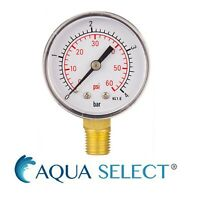 "Aqua Select Swimming Pool Pressure Gauge ¼"" Side Mount"
