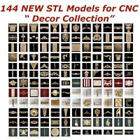 144 NEW Decor 3d STL Models for CNC Router 3d-Printer Artcam Aspire Cut3d