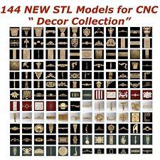 144 NEW Decor 3d STL Models for CNC Router 3d-Printer Artcam Aspire Cut3d