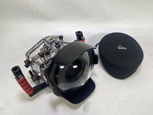 Ikelite SLR / Dc + Kuppel Unterwasser Gehäuse Für Canon 5D Mk III + Pelicase