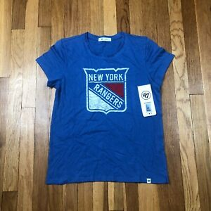 New York Rangers 47 Brand Women's Small Shirt. New NWT Blue Top. NHL Hockey