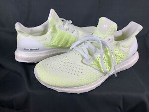 Adidas Ultraboost Clima - White Solar Yellow Ultra Boost Men's Size 10.5 AQ0481