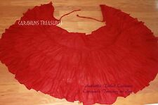Red Wrap Skirt Gypsy Tribal Fusion Belly Dance ATS