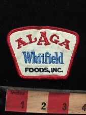 Vtg ALAGA WHITFIELD FOODS - Alabama Food Product Supplier Advertising Patch 77RR
