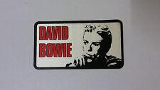 David Bowie Pop SMALL STICKER Vintage logo music artist