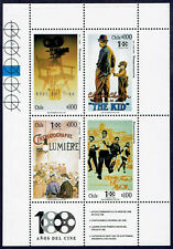 CHILE 1995 STAMP MS # 1708/11 MNH CINEMA CENTENNIAL MOVIES CHAPIN LUMIERE