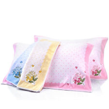 2pcs Pillow towels Cotton soft embroidered antibacterial towels KING SHORE brand