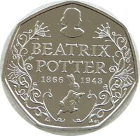 2016 Great Britain Royal Mint Beatrix Potter 50p Fifty Pence Coin Uncirculated